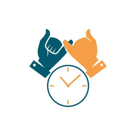 Illustration pour Commitment Teamwork Together Business Logo Illustration Vector - image libre de droit