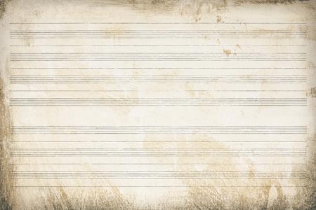 Photo pour Sheet music, old paper striped and aged, texture background - image libre de droit