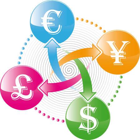 world money exchange icon