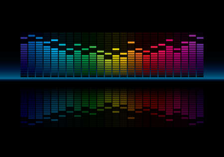 Coloful Graphic Equalizer Display: Royalty-free vector graphics