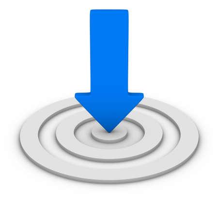 Photo pour red arrow and white target - image libre de droit