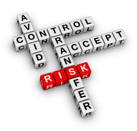 risk management 3D crossword (new business concept)