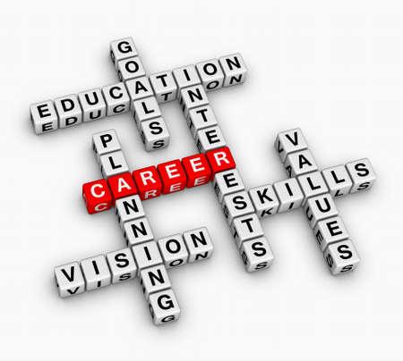 Photo pour career 3D crossword puzzle (job search concept) - image libre de droit