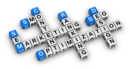 website marketing 3d crossword puzzle