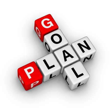 Photo pour goal plan - image libre de droit