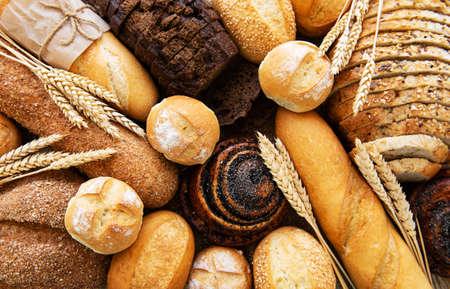 Foto für Assortment of baked bread as a food background - Lizenzfreies Bild