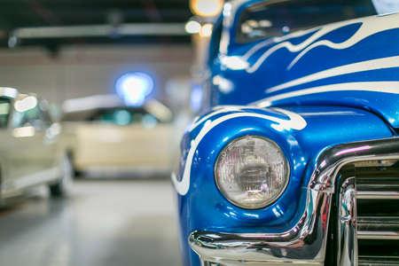 Foto für Vintage car front  with chrome trim and sporty theme - Lizenzfreies Bild