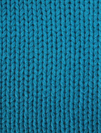 Knitted fabric in electric turquoise blue