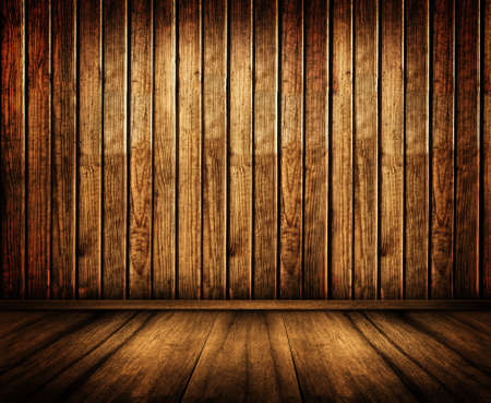 old  wooden walls and floor