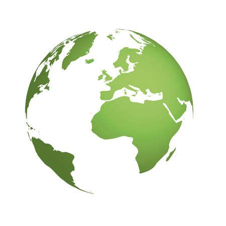 Ilustración de Illustrated earth globe - Imagen libre de derechos