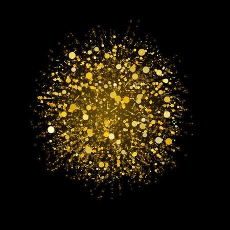 Abstract festive explosion over black background
