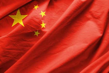 Photo pour Closeup of  Flag of china - image libre de droit