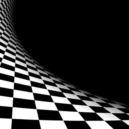 Foto de Abstract illusion. Black and white - Imagen libre de derechos