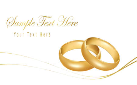 Photo-realistic vector illustration. Two gold wedding rings.
