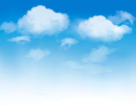 Ilustración de White clouds in a blue sky. Sky background. Vector - Imagen libre de derechos