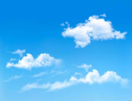 Ilustración de Blue sky with clouds. Vector background  - Imagen libre de derechos