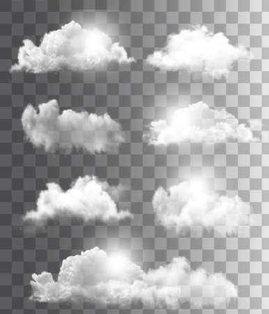 Illustration pour Background with a cloudy blue sky. Vector. - image libre de droit