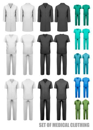 Set of medical clothes. Design template. Vector illustration.