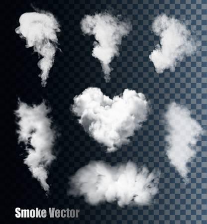 Illustration pour Smoke vectors on transparent background. - image libre de droit