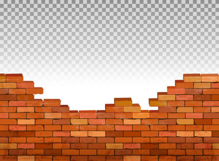 Illustration for Vintage brick wall background. Vector - Royalty Free Image