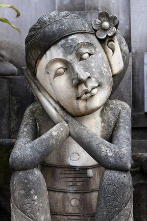 Balinese statue portrait