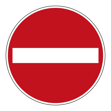 Illustration pour Do not enter blank sign. - image libre de droit