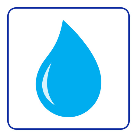 Blue water drop icon. Concept Save the Planet. のイラスト素材