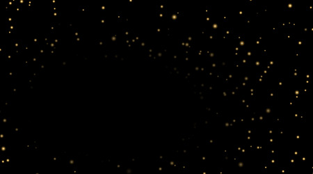 Night Sky With Gold Stars On Black Background Dark