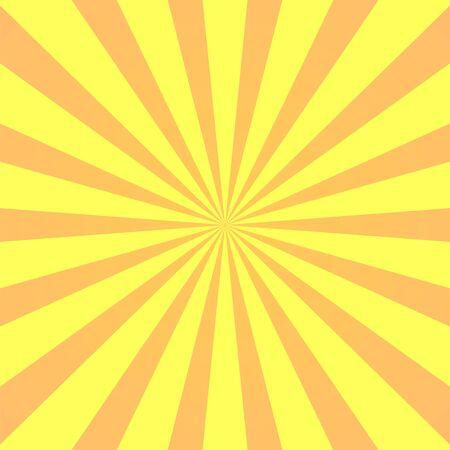 Illustration for Yellow background superhero. Super hero cartoon gradient texture. Sun rays burst. Radiate sun beam, burst effect retro. Sunbeam light flash boom. Template sunlight starburst poster Vector illustration - Royalty Free Image