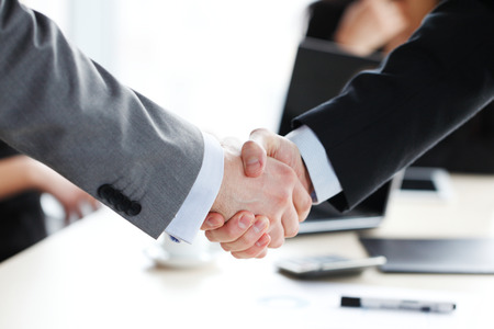 handshake at the business meeting