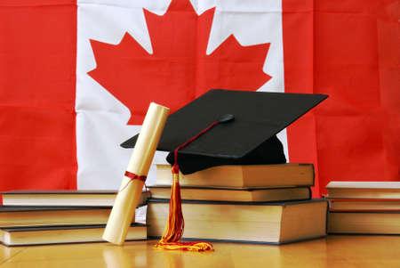 Photo pour A theme based image of canadian school and education. - image libre de droit