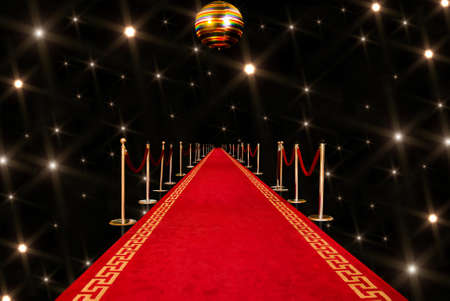 Shiny red carpet entrance background