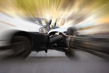 accident between car and motorcycle