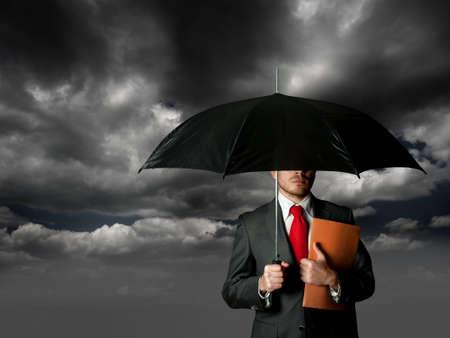 Foto de Insurance concept with business man  - Imagen libre de derechos