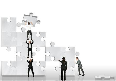 Business partner team work together