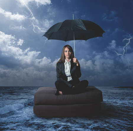 Concept of businesswoman with work problems