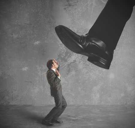 A businessman burdened by heavy taxes