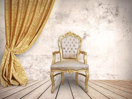 Photo pour Concept of success with luxurious chair - image libre de droit