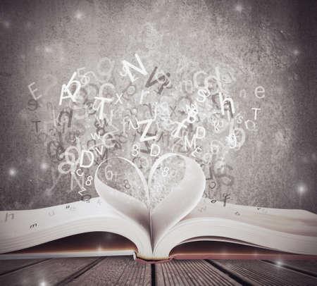 Photo pour CZoncept of love for book - image libre de droit