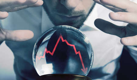 Foto de Concept of forecasts of the financial crisis - Imagen libre de derechos