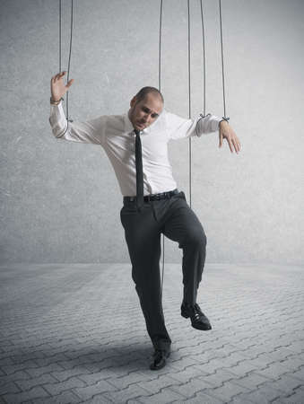 Concept of controlled businessman