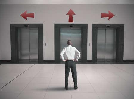 Choices of a businessman concept