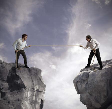 Photo pour Concept of competition in business affairs - image libre de droit