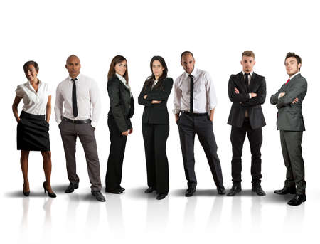 Foto de Concept of global business team on white background - Imagen libre de derechos