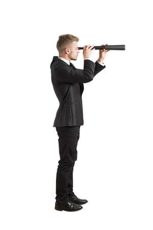 Photo pour Concept of businessman that look for the future - image libre de droit