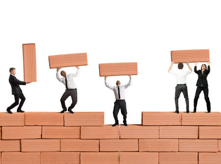 Teamwork builds a new business with bricks