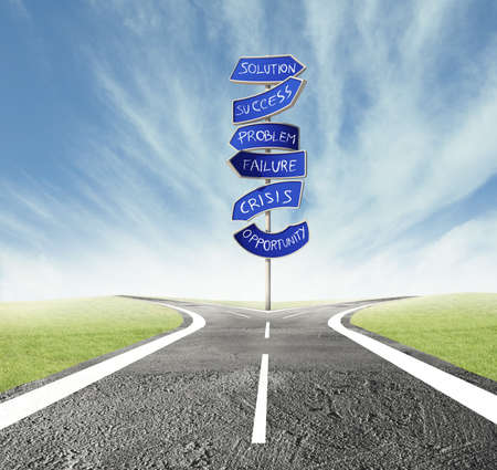 Concept of the right decision of a crossroads