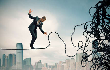 Concept of problem and difficulty of a businessman