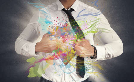 Concept of Creative business with colorful effect