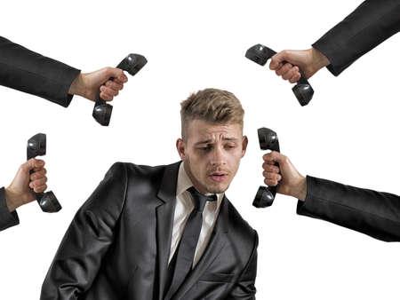 Photo pour Concept of career of a businessman with many job opportunities - image libre de droit